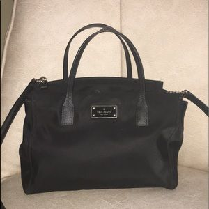 Kate Spade ♠️ lightweight nylon with leather trim